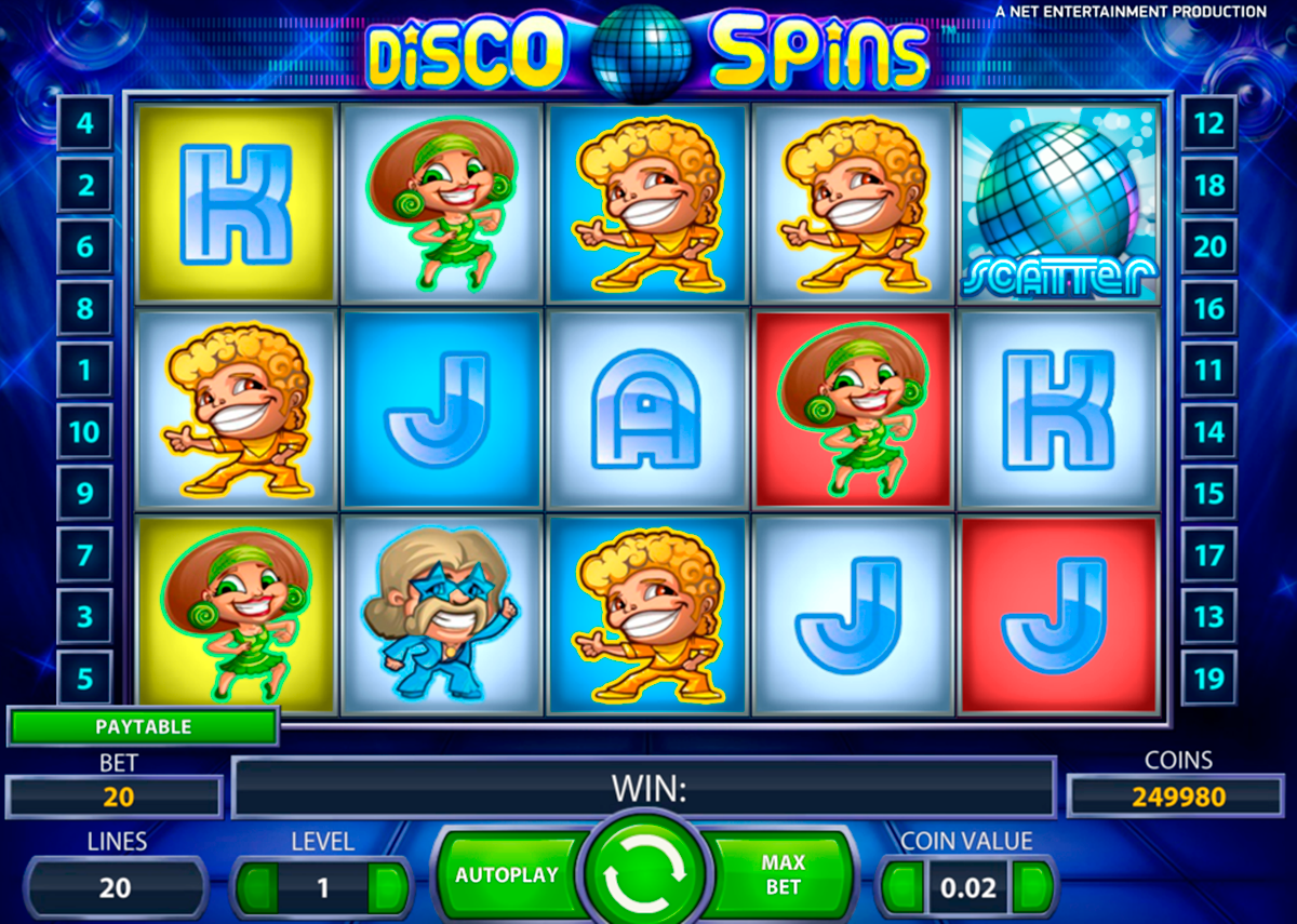 Disco Spins Slot Betting 168397